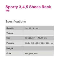 Jual Rak Sepatu Lurus Elegant Sporty FR 2