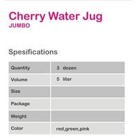 WATER JUG JUMBO 5 LTR TRANSPARANT BENING CHERRY FR Murah 5