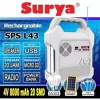 Paket Solar Cell Panel Surya Lampu Gdlite Termasuk Aki Penyimpan Daya