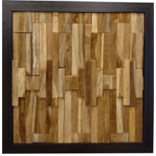 Erosion Teak Wall Cladding MKU-06