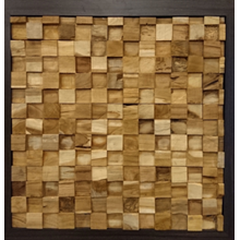 Erosion Teak Wall Cladding MKU-07