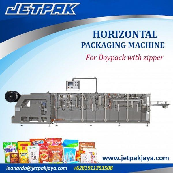 Mesin Pembuat Kemasan - Horizontal Packing Machine For Doypack With Zipper