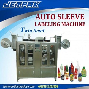 Auto Sleeve Labeling Machine Twin head JET-2250 - Mesin Thermal Shrink