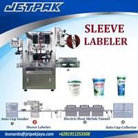 Jual Auto Sleeve Labeling Machine Single head JET-250 - Mesin Thermal Shrink