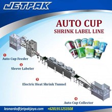 Auto Cup Shrink Label Line - Mesin Thermal Shrink