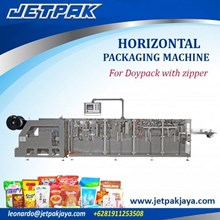Horizontal Packing Machine For Doypack With Zipper - Mesin Kemasan Makanan