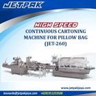 HIGH SPEED CONTINUOUS CARTONING MACHINE FOR PILLOW BAG (JET-260) - Mesin Pembuat Kemasan 1