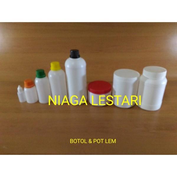 Botol Plastik  dan pot lem
