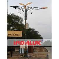 Tiang Lampu Jalan Solar Cell Tenaga Surya Type Selembayung