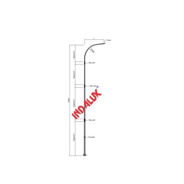 Tiang Lampu Jalan Type ISP - 12 Meter Cab. 1 Octagonal Paraball