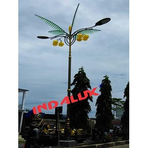 From Decorative Street Lamp Pole Type Palm Trees 3