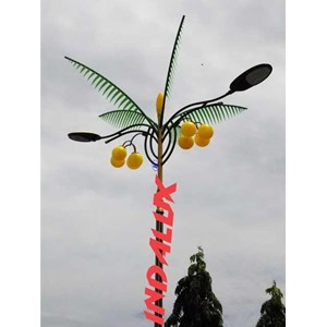 From Decorative Street Lamp Pole Type Palm Trees 1