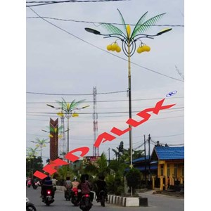 From Decorative Street Lamp Pole Type Palm Trees 2