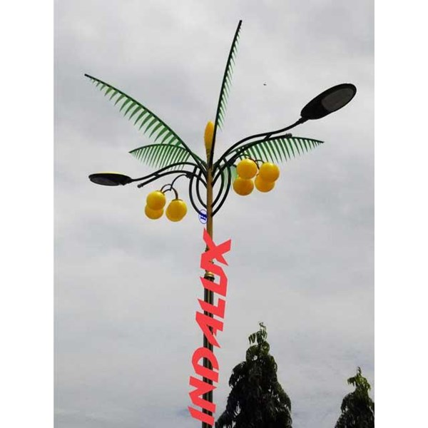 Tiang Lampu Jalan Dekoratif Type Pohon Kelapa