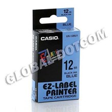 EZ LABEL TAPE CASIO 12MM BLACK INK BLUE