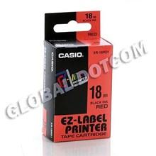 EZ LABEL TAPE CASIO 18MM BLACK INK RED