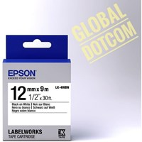 Pita Coding Epson label 12mm black on white 9m labelworks tape cartridge LK-4WBN