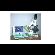 Mikroskop Stereo Trinokuler Dengan Camera + Laptop