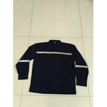 Baju Kerja Atasan Safety Warna Hitam Ukuran XL Murah WA 085288918182