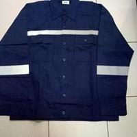 Jual Baju Kerja Atasan Safety Warna Dongker Ukuran M Murah WA 085288918182
