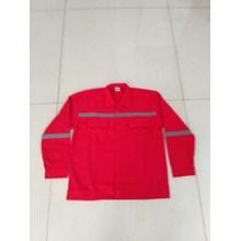 Baju Kerja Atasan Safety Warna Merah Ukuran L Murah WA 085288918182