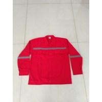 Jual Baju Kerja Atasan Safety Warna Merah Ukuran XL Murah WA 085288918182