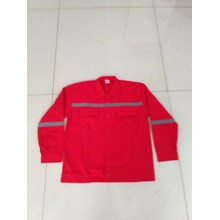 Baju Kerja Atasan Safety Warna Merah Ukuran XXL Murah WA 085288918182