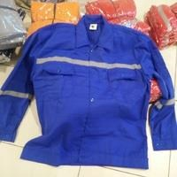 Jual Baju Kerja Atasan Safety Warna Biru BCA Ukuran M Murah WA 085288918182
