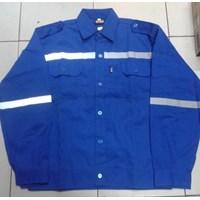 Jual Baju Kerja Atasan Safety Warna Biru BCA Ukuran L Murah WA 085288918182