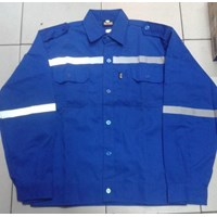 Jual Baju Kerja Atasan Safety Warna Biru BCA Ukuran XL Murah WA 085288918182