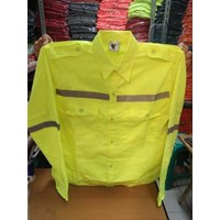 Jual Baju Kerja Atasan Safety Warna Kuning Ukuran M Murah WA 085288918182