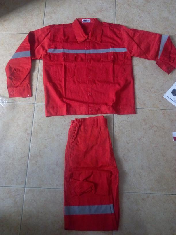 Jual Baju Celana Kerja Safety Warna Merah Ukuran XXL Murah