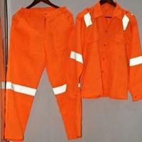 Jual Baju Celana Kerja Safety Warna Orange Ukuran M Murah WA 085288918182