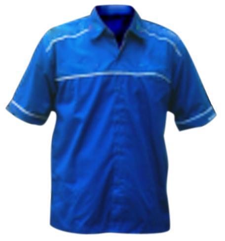 Jual Baju Kerja Atasan Pendek Safety Warna Biru Menhur