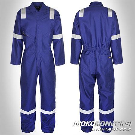 Jual Baju Wearpack Safety Warna Biru Benhur Ukuran Xl