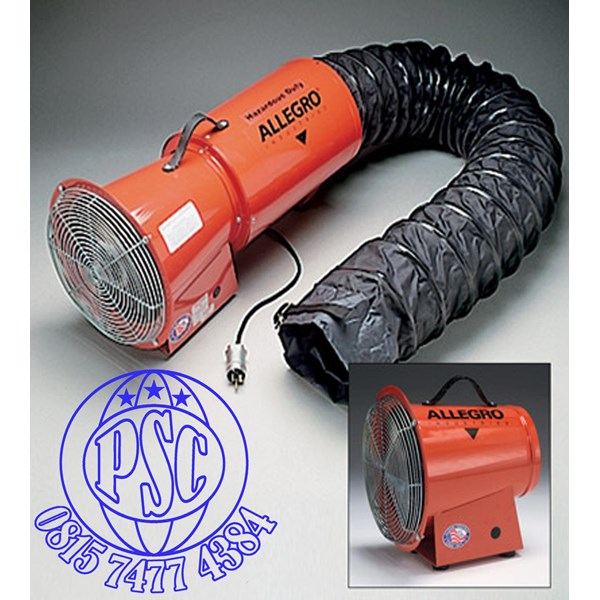 "Explosion Proof Blower 8"" AC Axial Allegro Safety"