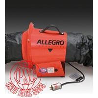 """8"""" AC Axial Explosion Proof Inline Booster Blower Allegro Safety"""