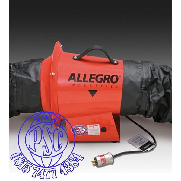 "8"" AC Axial Explosion Proof Inline Booster Blower Allegro Safety"