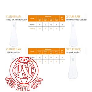 Culture Flask & Culture Tube Pyrex Iwaki