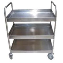 TROLLEY STAINLESS STEEL 3 TINGKAT