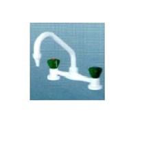 One way Bench 2 hole Mixer Water tap Keran Air Alat Laboratorium Air