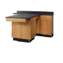 "Meja Laboratorium MEJA ""T"" WALL BENCH 2400"