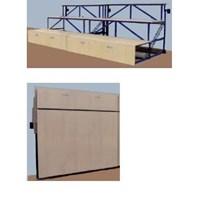Bangku Olahraga Wall Permanen Folded 220 Peralatan Olahraga Outdoor