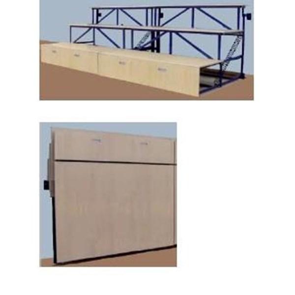 Bangku Olahraga Wall Permanen Folded 400 Peralatan Olahraga Outdoor