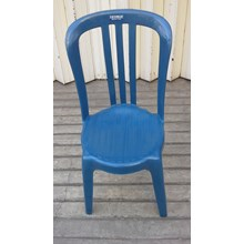 Victoria plastic seat with backrest.