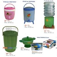 tempat air dan tempat nasi plastik Produk kaisha