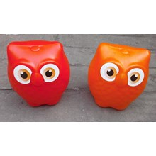 Plastic owl piggy bank AG brands