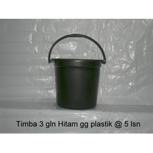 Timba 3 galon hitam plastik dan timba 4 galon deluxe plastik merk BOP
