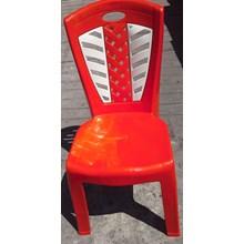 Kursi plastik Napolly kode 209 BTC warna merah kombinasi putih