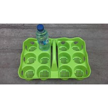 Tempat botol PLASTIK air Mineral isi 6 kode rkt 9012 Merk Golden Sunkist